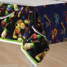 TEENAGE MUTANT NINJA TURTLES PLASTIC TABLECOVER ~ Birthday Party Supplies Table