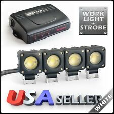 3000lm WHITE 6 Channel Emergency LED High Power Work Light w/ Solid on + Strobe