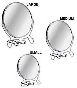 Double Sided Cosmetic Shaving Bathroom Mirror Chrome Vanity Magnifying Make Up