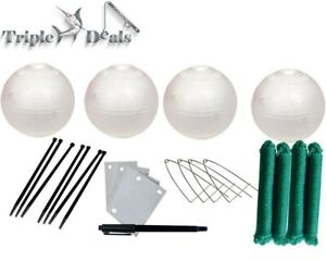 Jarvis Walker Crabbing Kit - 4 x 6 Inch Floats,Clips,Id Tags,4 Ropes and 1 Pen