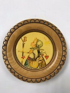 Vintage Wall Plaque From West Germany  Hummel? Goebel? Child and Bird Sing