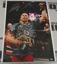 Georges St-Pierre Signed UFC 20x30 Canvas Photo PSA/DNA COA GSP 100 65 79 83 167