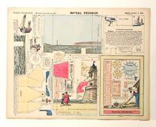 Pellerin Imagerie D'Epinal-No 555 Bateau Pecheur Grandes Construction Paper Mode