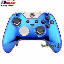 Custom Chrome Blue Replacement Front Shell for Xbox One Elite Remote Controller
