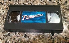 TERROR VISION RARE VHS TAPE! 1986 SCY-FI HORROR! TED NICOLAOU, DIANE FRANKLIN