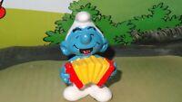 Smurfs Accordion Smurf Squeezebox Music 20225 Vintage Rare Original Figurine