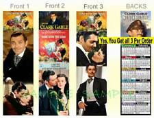 3 Set-CLARK GABLE 2019 CALENDAR Gone with the WIND Book Movie Card Art BOOKMARK