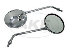 Set: 2 Spiegel, Ø105mm, komplett in Chrom, Variante 2 - für Simson S50, S51, S70