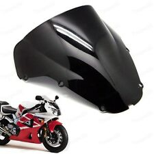Black Double Bubble Windscreen Windshield ABS for Honda CBR900/929RR 2000-2001