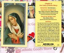 Chaplet of Our Lady of Divine Mercy - Laminated Holy Card