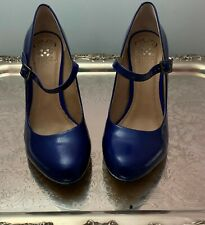 Vince Camuto Blue Block Heel Mary Jane size 8 ½