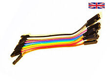 Dupont cables jumpers leads female - female 20cm 10 way Arduino PIC - UK SELLER