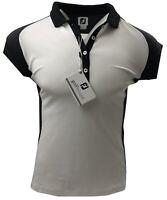 Footjoy FJ Smooth Pique Cap Golf Polo Shirt - Ladies Large UK14 - RRP£40