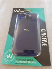 Coque Wiko Cink Five Folio Back Cover officielle bleue