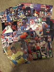 Lot 27 BECKETT BASEBALL CARD MONTHLY Price Guides 1991-1994 unopened 100 issue