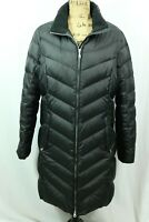 Eddie Bauer EB500 Fill Power Goose Down Women's Large Long Quilted Puffer Jacket