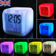 7 Colour LED Change Digital Glowing Alarm Clock Night Light for Kids Bedroom !