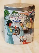 """2004 Ashdon Farms Girl Scout Tin """"1940's Girl Scout Promise"""" First in Series"""