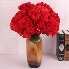 Bunch of Bouquet Artificial Flower Bridal Hydrangea Wedding Floral Decor Red