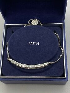"Brilliance Bracelet Faith ""Watch Over Me"" with Swarovski Crystals Silver Plated"
