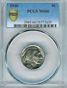 1930 Buffalo Nickel : PCGS MS66