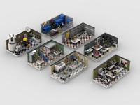 Lego Lab Set Pack Building Instructions (7 mocs)