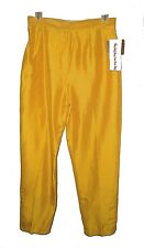New Pants, Focus 2000 Charles Glueck, Vintage-1980s Gold 100%-Silk Lined NWT  8P