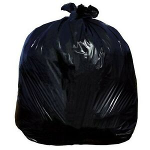 Heavy Duty Black Compactor Sacks Rubbish Bin Liners Bags Refuse Sacks 20x34x47''