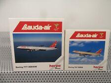 """Herpa wings 1:500 502856 511100 Flugzeug 2-teile """"Lauda-Air"""" Boeing in OVP E97"""