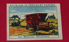 CHROMO PUPIER 1930 ALBUM JOLIES IMAGES SERIE 4 TRAVAUX CAMPAGNE BATTEUSE
