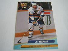 1992/93 FLEER ULTRA HOCKEY JEFF BROWN CARD #183***ST. LOUIS BLUES***