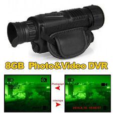 Monocular Night Vision Goggles Security Cameras IR Tracker Video Camera Recorder