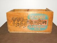VINTAGE BEER GENESEE 12 HORSE ALE ROCHESTER NY DOVE TAIL WOOD BOX