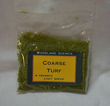 New repacked woodland scenic 4 grammes coarse turf light green (ref#51)