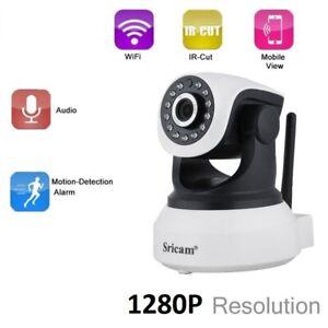 Caméra Surveillance IP Securité 1280P vision nocturne 1 Mégapixel Sans Fil Wifi