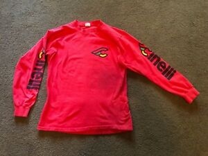 Vtg Cinelli Men's L 42-44 Red 100% Cotton Long Sleeve Cycling Jersey Made in USA