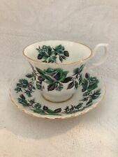 Vintage Royal Albert England Bone China GRASMERE LAKESIDE SERIES Teacup Saucer 1