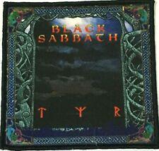 BLACK SABBATH - Tyr - Square Printed Patch Black Stitching Tony Martin aufnäher
