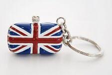 ALEXANDER McQUEEN mini classic britannia crâne pochette porte-clés porte-clés bnwt