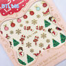 1 Sheet 3D Nail Art Stickers Christmas Tree Snowman Snowflake Gift Design Tips