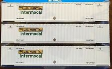 """Athearn 3 Pack JB Hunt 53' """"CIMC"""" Intermodal Containers--NEW / UNOPENED HO SCALE"""