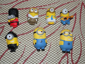 8 MCDONALDS, MINIONS MOVIE, TALKING MINIONS FIGURES & 2 SQUEEZABLE MINIONS