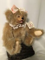 "Kimbearly's Originals A&A plush bear #19019 ""Stella"" Leather Tag #IE/1105"