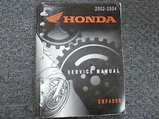 2002 2003 2004 Honda CRF450R Dirt Bike Motorcycle Shop Service Repair Manual