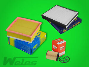 SERVICEPAKET OPEL MERIVA B 1,7 CDTI Luftfilter Ölfilter Pollenfilter