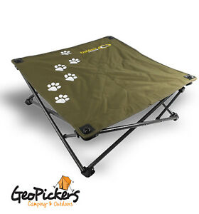 Camping Pet Dog Bed Raised Foldable Compact 16mm Steel Frame 87 x 87cm
