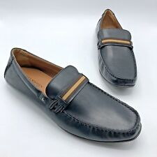 6143ca8bb0b Steve Madden Grab2 Men Black Leather Slip On Loafer Shoe Size 12M Pre Owned