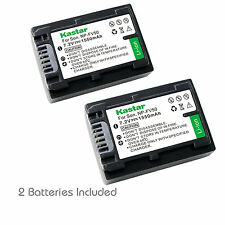 2x Kastar Battery for Sony NP-FV50 HXR-NX30U HXR-NX70U