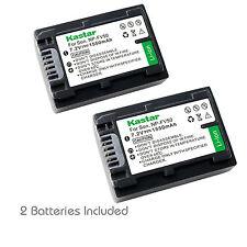 2x Kastar Battery for Sony NP-FV50 HDR-PJ30V HDR-PJ50 HDR-PJ200 HDR-PJ230