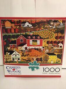 1000 Piece Puzzle Americana Charles Wysocki - Butternut Farm Fall Pumpkins